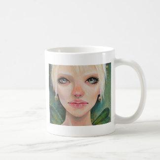 Tiny green fairy basic white mug