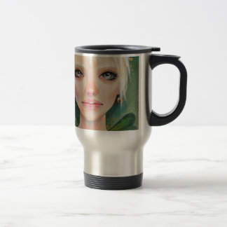 Tiny green fairy stainless steel travel mug