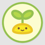 Tiny Green Sprout Round Sticker