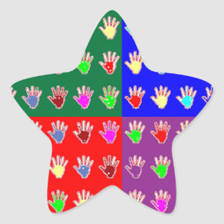 TINY HANDS Blessings GRAPHICS: ColorMANIA Artist Star Sticker