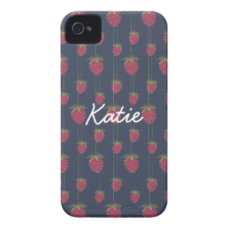 Tiny Hanging Strawberries Case-Mate iPhone 4 Case
