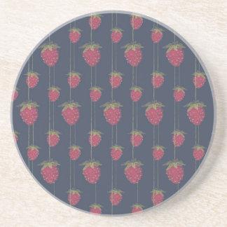 Tiny Hanging Strawberries Coaster