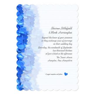 """Tiny Heart Blue Hydrangea Wedding Invitation 5"""" X 7"""" Invitation Card"""