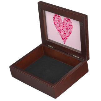 Tiny Hearts Big Heart on Rose Pink Valentines Keepsake Box