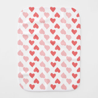 Tiny Hearts Burp Cloth
