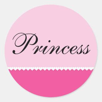 Tiny Hearts on Pink Background, Princess Sticker