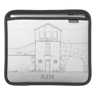 Tiny House Black & White Architecture Personalized Sleeves For iPads