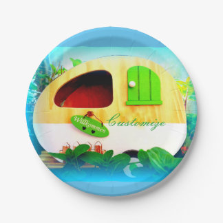 tiny house gypsy caravan 7 inch paper plate