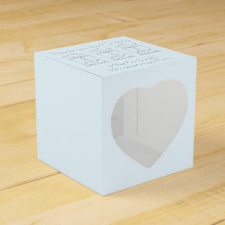 Tiny House Ink Drawing Light Blue Housewarming Favour Box