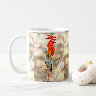 Tiny Hummer with Orange Blooms Coffee Cup