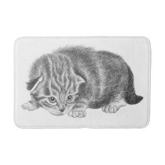 tiny kitten bath mat