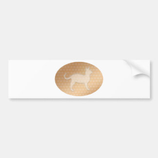 Tiny Little Hearts and White Pusssy Cat Bumper Sticker