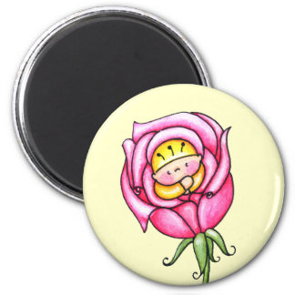 Tiny Long Stemmed Rose Magnet