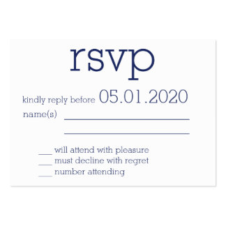 Tiny Monogrammed White Modern Wedding RSVP Cards Pack Of Chubby Business Cards