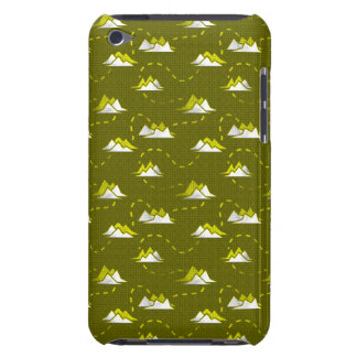 Tiny Mountains Trail DARK-GREEN iPod Case-Mate Cases