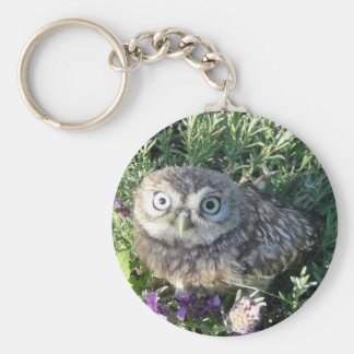 Tiny owl too cute for words key ring