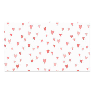 Tiny Pink Hearts Business Card Templates
