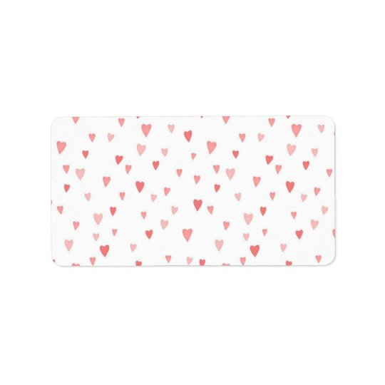 Tiny Pink Hearts Label