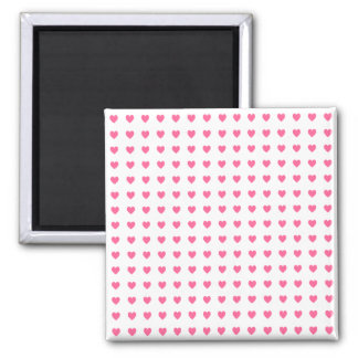 Tiny Pink Hearts Square Magnet