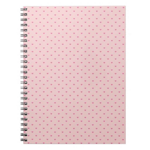 Tiny Pink Hearts Notebook