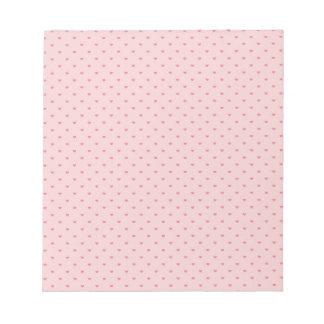 Tiny Pink Hearts Notepad