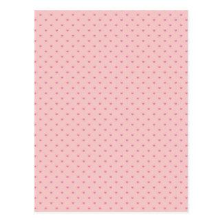 Tiny Pink Hearts Postcard