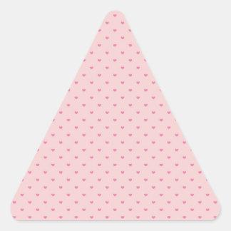 Tiny Pink Hearts Triangle Sticker