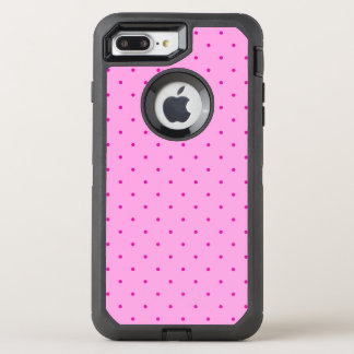 Tiny Pink Polka Dots on Lighter Pink OtterBox Defender iPhone 8 Plus/7 Plus Case