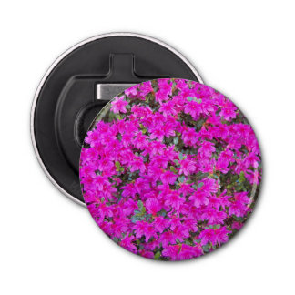 Tiny Pink Rhododendrons Floral Bottle Opener