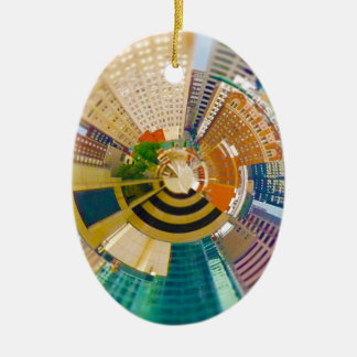 Tiny Planet Downtown Kansas City, Mo. Christmas Ornament