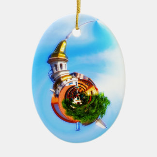 Tiny Planet Figlio's Restaurant Country Club Plaza Christmas Ornament