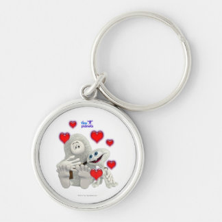Tiny Planets All You need is Love Silver-Colored Round Key Ring
