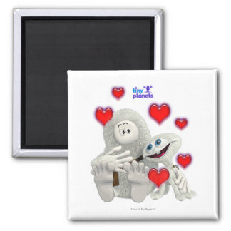 Tiny Planets All You need is Love Square Magnet