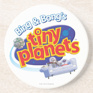 Tiny Planets Logo Sandstone Coaster