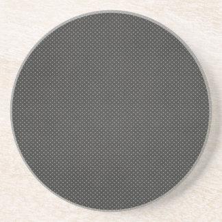 tiny polka dots on Black Background Coasters