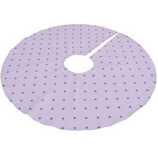 Tiny Purple Polka-Dots on Light Purple Brushed Polyester Tree Skirt
