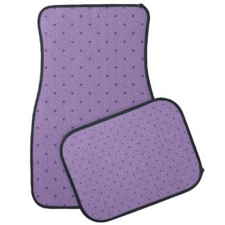 Tiny Purple Polka-Dots on Purple Car Mat