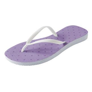 Tiny Purple Polka-Dots on Purple Flip Flops