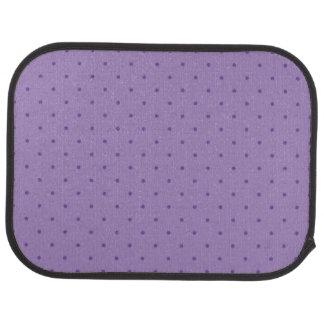 Tiny Purple Polka-Dots on Purple Rear Car Mats