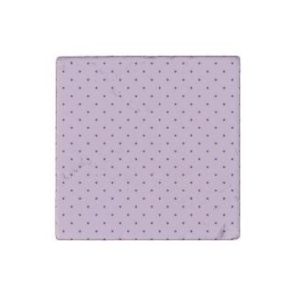 Tiny Purple Polka-Dots on Purple Stone Magnet