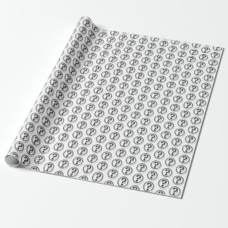 Tiny Question Marks Pattern Wrapping Paper