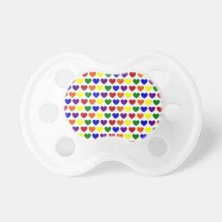 Tiny Rainbow Hearts Baby Pacifier