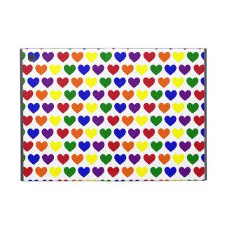 Tiny Rainbow Hearts Cover For iPad Mini