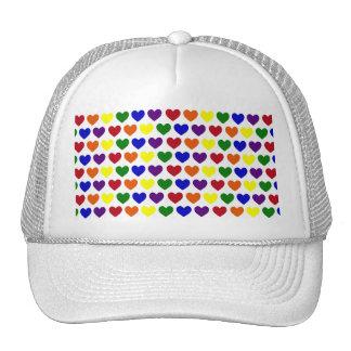Tiny Rainbow Hearts Trucker Hat