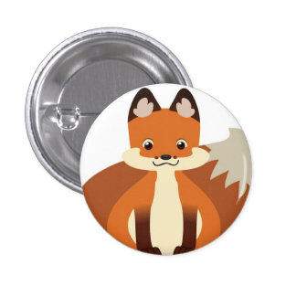 Tiny Red Fox Button