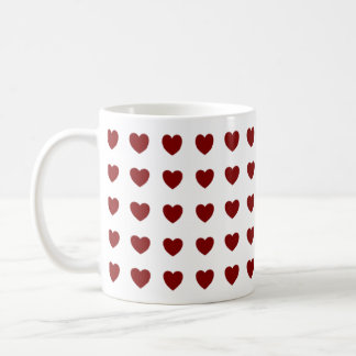 Tiny Red Hearts Design Coffee Mugs