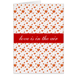 Tiny Red Hearts Greeting Card