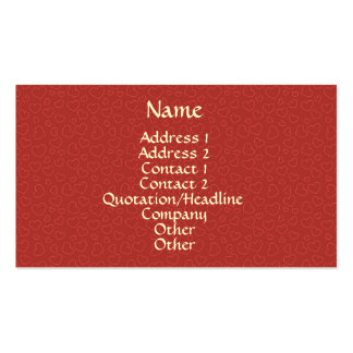 Tiny Red Hearts Pattern Business Card