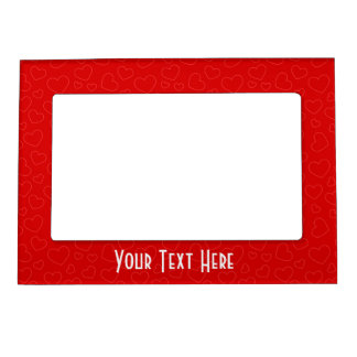 Tiny Red Hearts Pattern Magnetic Frame