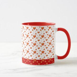 Tiny Red Hearts Valentines Day Love Mug